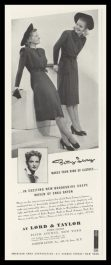 1938 Lord & Taylor Vintage Ad   Betty Levay Dresses