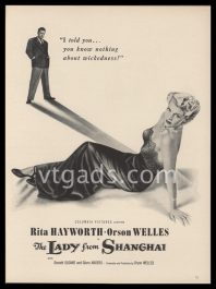 1948 Movie Ad   The Lady from Shanghai   Orson Welles