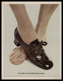 1971 Joyce Shoes Vintage Ad | Liberated Woman