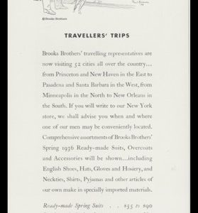 1936 Brooks Brothers Clothing Vintage Ad - Paul Brown Art