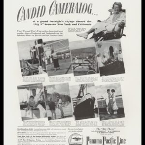 "1936 Panama Pacific Line Vintage Ad - ""Candid Cameralog"""