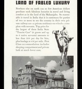 1938 India State Railways Vintage Ad - Delhi Fort Photo