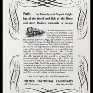 1947 French National Railroads Vintage Ad