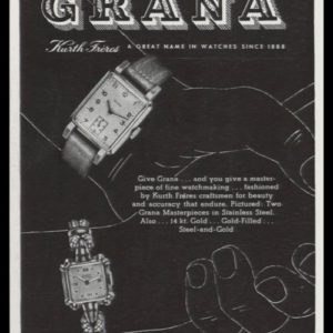 1947 Grana Kurth Frères Watches Vintage Ad