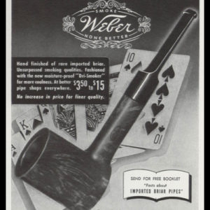 1947 C.B. Weber & Co. Tobacco Pipes Vintage Ad