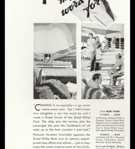 "1936 United Fruit Co./Great White Fleet Vintage Ad - ""Take my Word for It"""