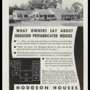 1936 Hodgson Houses Vintage Ad
