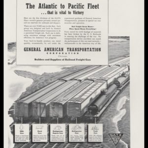1942 General American Transportation Corp. (GATX) Vintage Ad - RR Cars