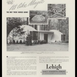 "1942 Lehigh Portland Cement Vintage Ad - ""bubble"" type Experimental Housing photo"