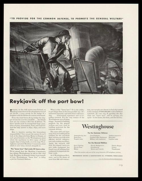 1942 Westinghouse Mfg. Vintage Ad - Ben Stahl Art