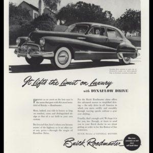 1948 Buick Roadmaster Vintage Ad - Dynaflow Drive