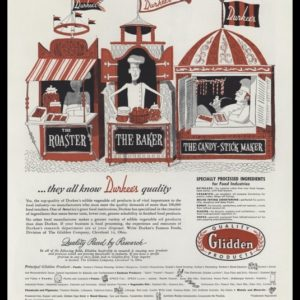 1948 Durkee's Famous Foods Vintage Ad - Chef Art