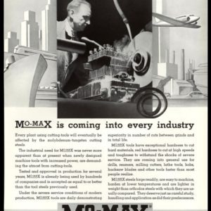 1936 Mo-Max Steels Vintage Ad - Machinist