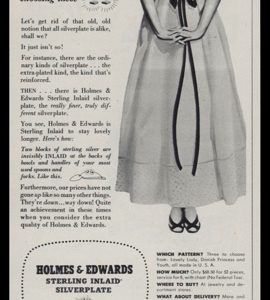 1947 Holmes & Edwards Sterling Inlaid Silver Plate Vintage Ad