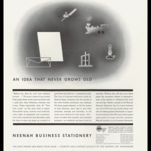 1936 Neenah Paper Co. Vintage Ad | Obsolete Items