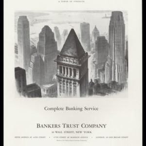 1938 Bankers Trust Company Vintage Ad - NY Harbor