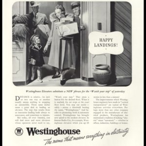 1938 Westinghouse Electric & Mfg. Co. Vintage Ad - Automatic Elevator