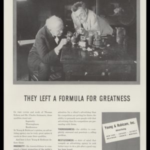 1938 Young & Rubicam Advertising Vintage Ad - Thomas Edison