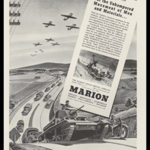 1942 Marion Steam Shovel Co. Vintage Ad - Convoy
