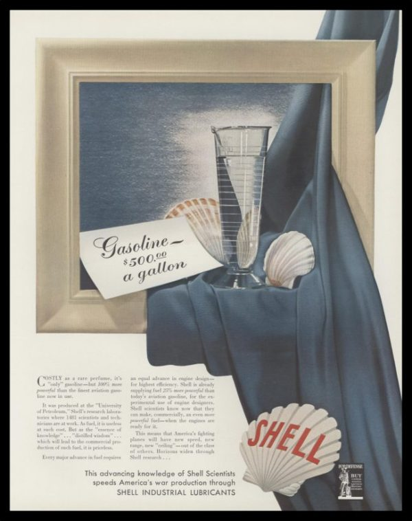 1965 Shell Oil Co. Vintage Print Ad - $500 gasoline