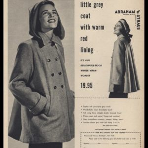 1947 Abraham & Straus Vintage Ad | Ladies Winter Coat