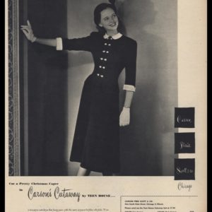 1947 Carson Pirie Scott & Co. Vintage Ad | Suit Dress