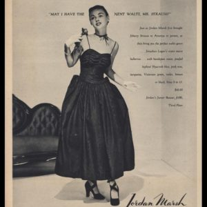 1947 Jordan Marsh Vintage Ad | Jonathan Logan Dress