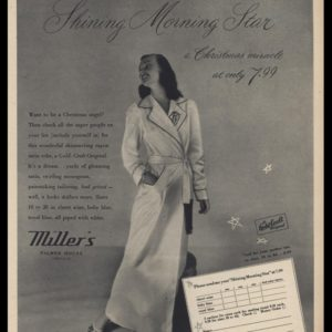 1947 Gold-Craft Original Robe from Miller's of Chicago Vintage Ad -