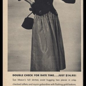 1947 Mimi's Vintage Ad | Sue Mason Two Piece Suit