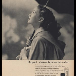 1947 Tussy Wind and Weather Lotion Vintage Ad