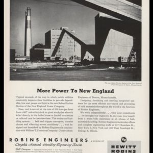 1952 Robins Engineers Vintage Ad | Salem Harbor Station
