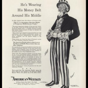 1953 The American Weekly Vintage Ad | Uncle Sam Art