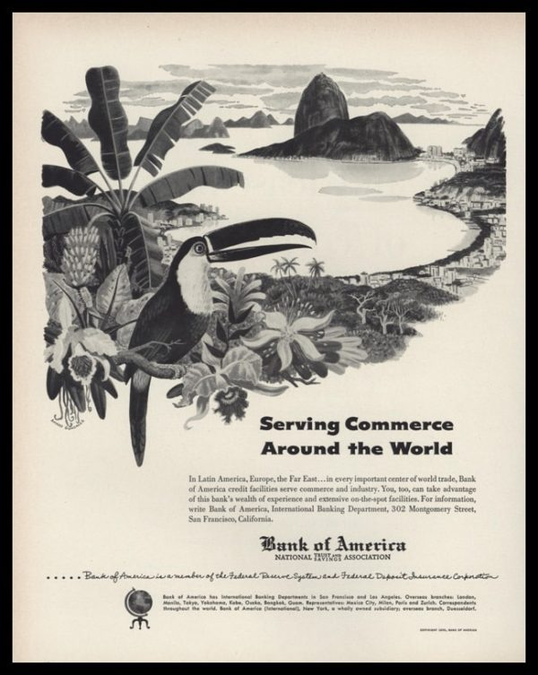 1953 Bank of America Vintage Ad | Rio Art