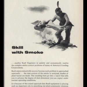 1953 Buell Engineering Vintage Ad | Smoke Signals Art