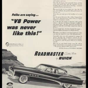 1953 Buick Roadmaster Vintage Ad | V8 Power
