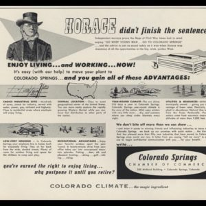 1953 Colorado Springs Chamber of Commerce Vintage Ad