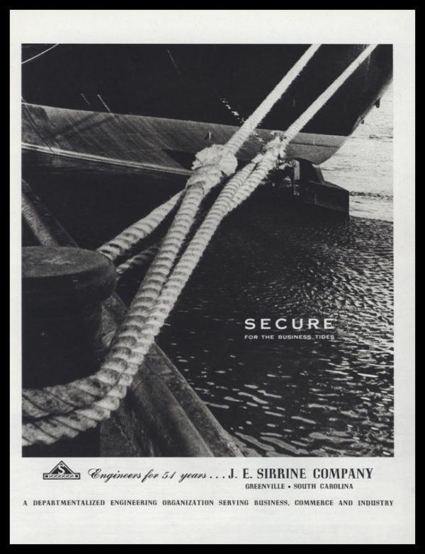 1953 J.E. Sirrine Company Vintage Ad