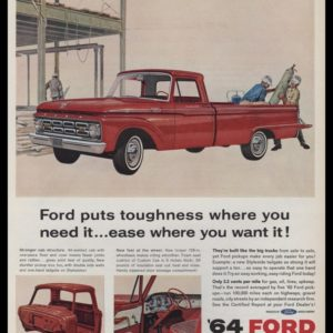 1964 Ford Pickup Truck Vintage Ad - Construction Site