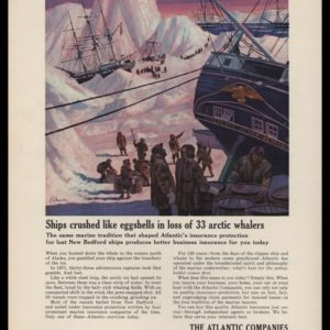 1965 The Atlantic Companies Vintage Ad - Whaling Disaster