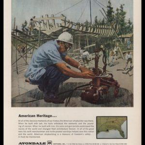 1965 Avondale Shipyards Vintage Ad - Shipbuilder Art