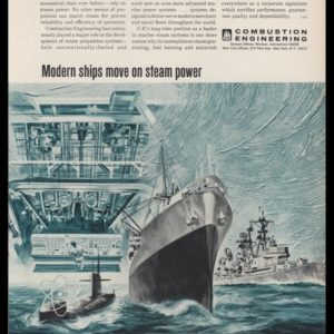 1965 Combustion Engineering Vintage Ad - Ship Art