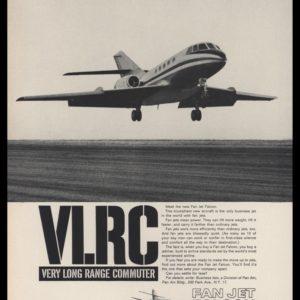 1965 Fan Jet Falcon Vintage Ad - Business Jetliner