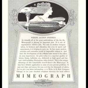 1935 A.B. Dick Mimeograph Vintage Ad | Torchbearer Art