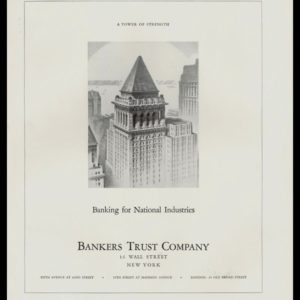 1935 Ad Bankers Trust | Banking for National Industries