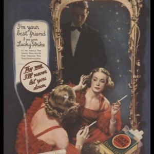 1935 Lucky Strike Cigarettes Vintage Ad | Lady in Mirror