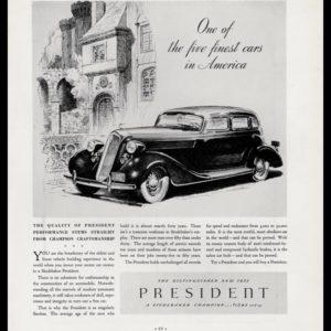 1935 Studebaker President Vintage Ad