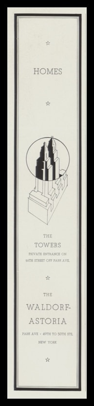 1935 Waldorf-Astoria Homes Vintage Ad | The Towers