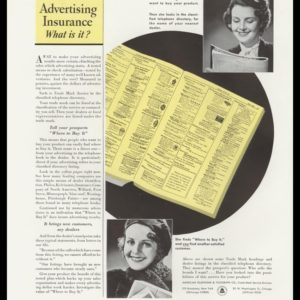 1936 Ad AT&T Trade Mark Service | Advertising Insurance