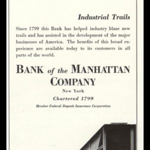 "1936 Bank of the Manhattan Co. Vintage Ad - ""Industrial Trails"""