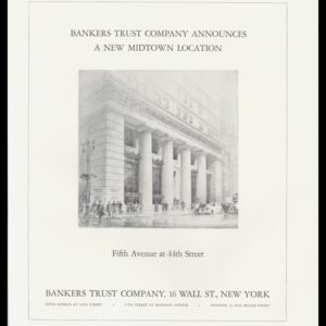 1936 Bankers Trust Co. Vintage Print Ad - New Midtown Location